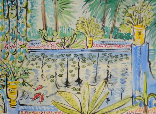 Jardin Majorelle, Reflections
