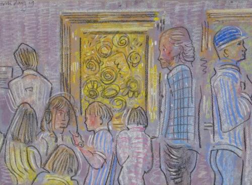 The Van Gogh, pastel, 30cm x 40cm.
