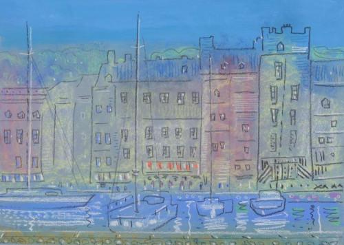 Honfleur, pastel on paper, 30cm x 40cm. 2019