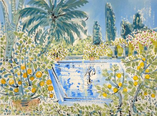 Fountain in the citrus garden