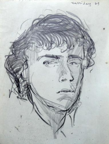 1969 Self-portrait at school