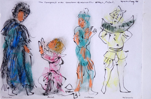 Costume design for 'The Tempest', Worcester College, 1978.