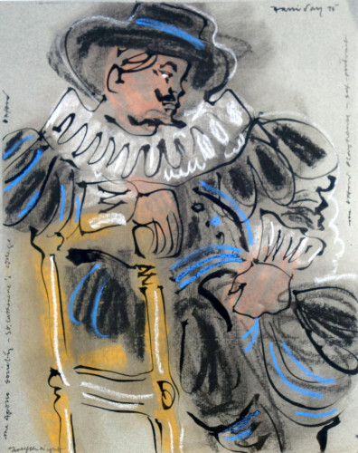 Costume Designs for 'Twelfth NIght' at St. Catherine's College, Oxford, 1975