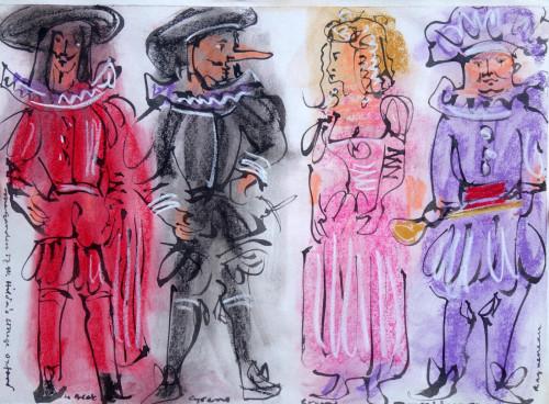 Costume Designs for 'Cyrano,  Oxford 1974