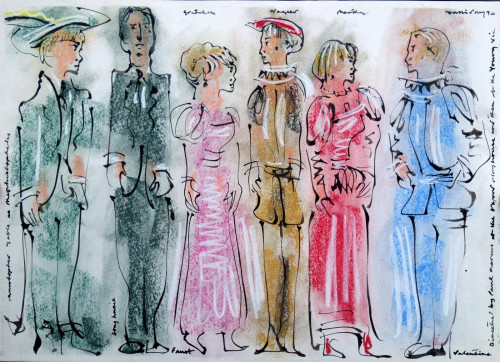 Costume Designs for 'Goethe's Faust', Oxford, 1976
