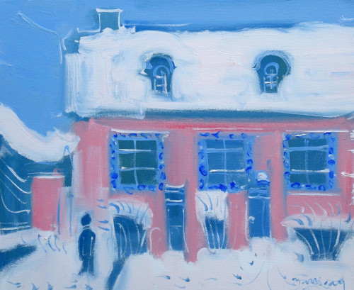 'Tante Léonie's House in Winter at Illiers Combray'. We have a collection of subjects inspired by Marcel Proust, please search 'Proust' in our SEARCH facility.