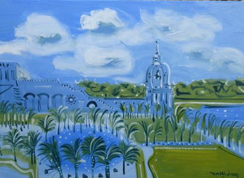 The Orangery, Versailles, oil, on canvas, 73cm x 100cm.