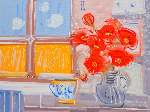 Poppies at the window, Les Pailles