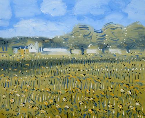 Sunflower Field at Les Pailles