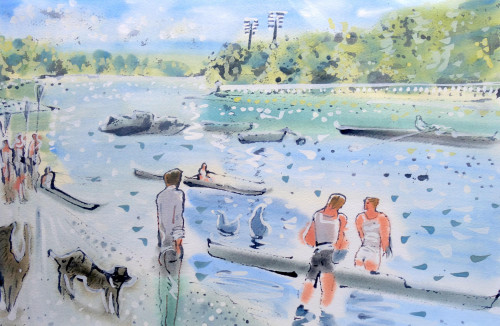 'Rowing at Putney'