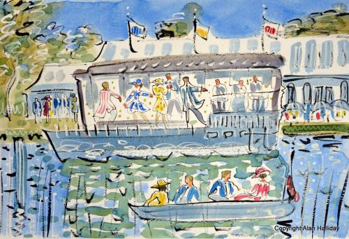 Dancing on the boat at Henley Royal Regatta