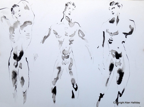 Three nude studies