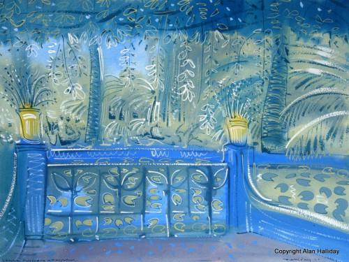 Balustrade at the Reflecting Pool
