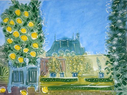 Lemon trees in the Formal Garden at St. Loup