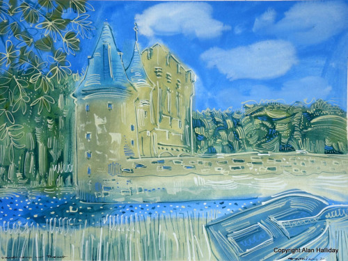 The Moat at St. Loup