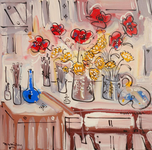 The Red Studio Still Life