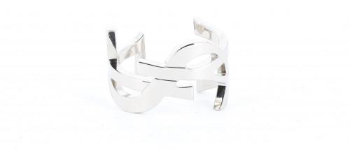 YSL Silver Logo Bracelet