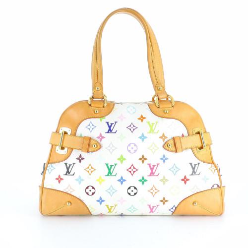Louis Vuitton White Multicolor Murakami Monagram Handbag