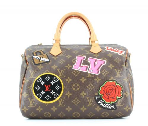 Louis Vuitton Speedy 30 Patchwork 2010's