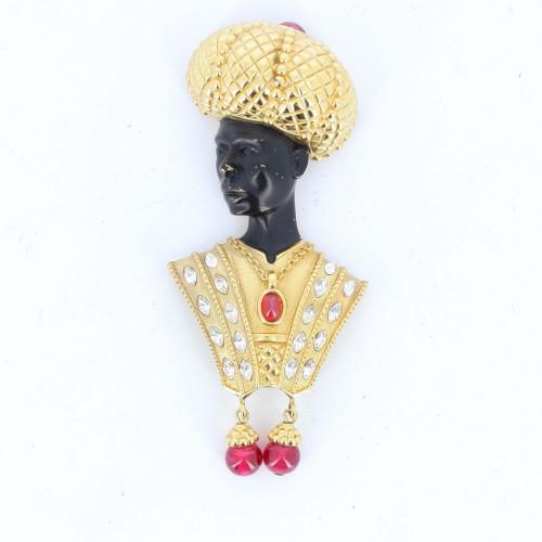 Christian Dior Golden Crown Woman brooch