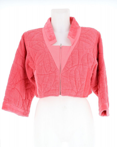 Chanel pink towel bolero