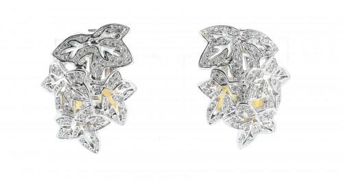 Christian Dior Strass Leaves Earrings