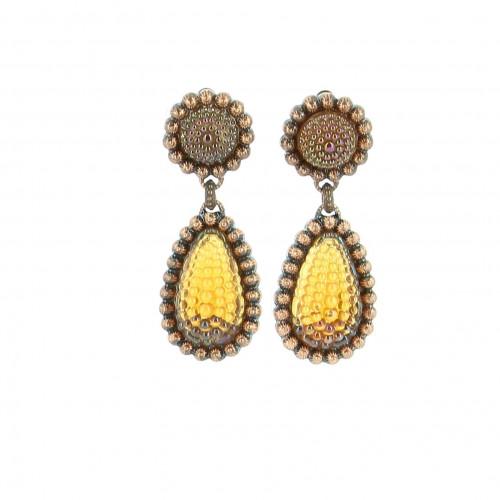 YSL Orange Bubble Earrings