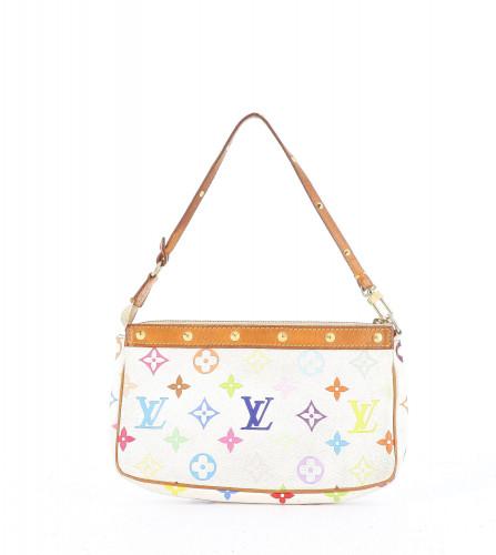 Louis Vuitton White multicolor canvas  Pochette Accessoire