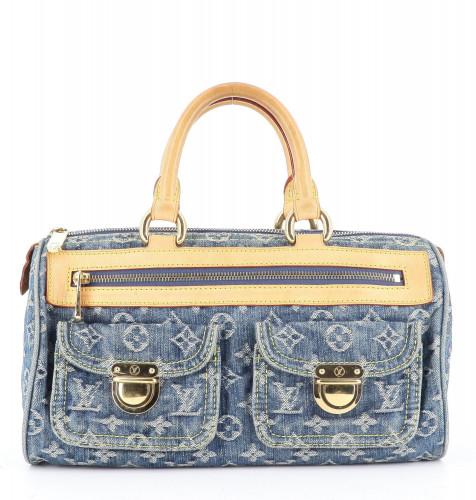 Louis Vuitton Blue Denim Monogram Neo Speedy