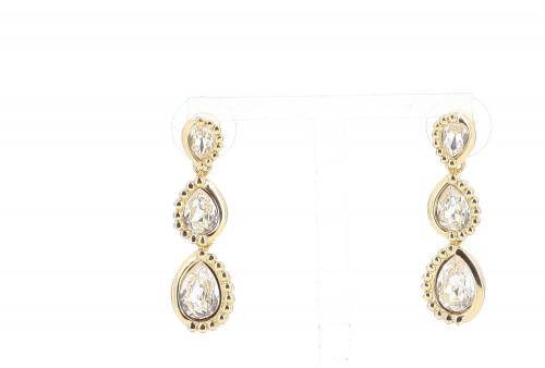 Dior Triple Strass Earrings