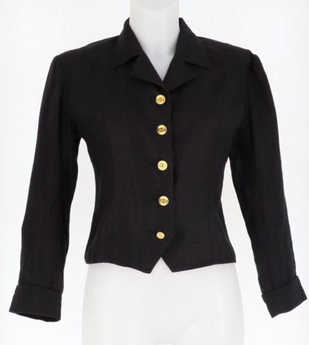 Chanel Black Denim Jacket