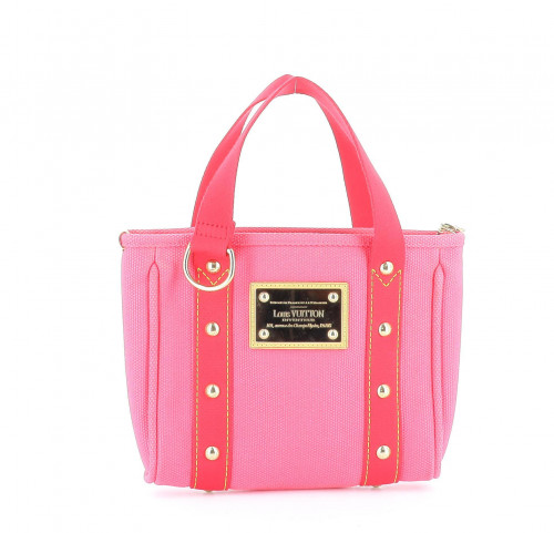 Louis Vuitton 2006 Pink Antigua Canvas Tote Bag