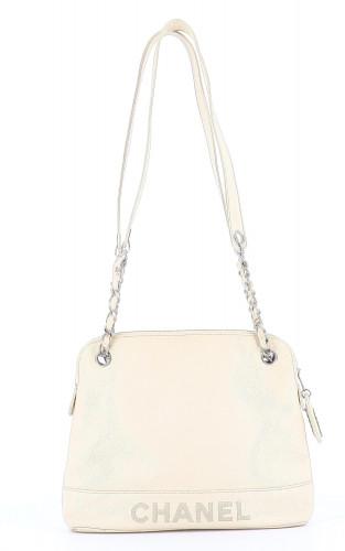 Chanel white shopper