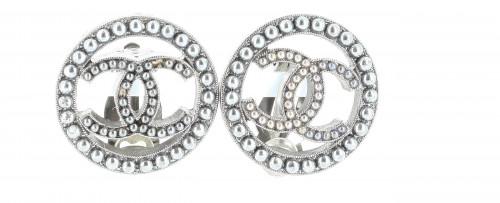 Chanel 2017 Logo Earrings