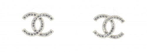 Chanel 2010 Logo Earrings