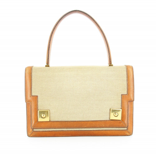 Hermès leather and canvas vintage Piano Bag