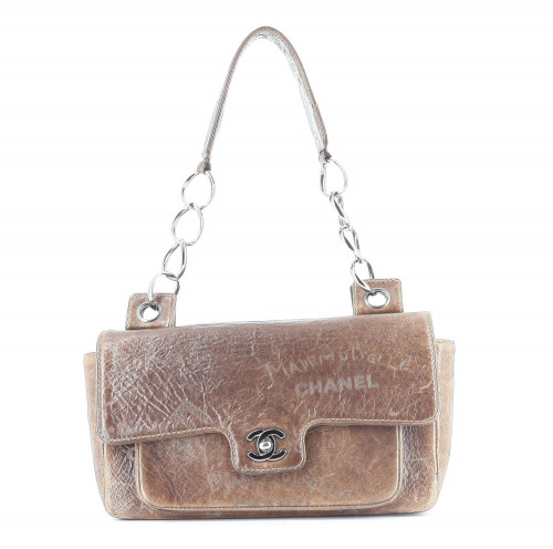 Chanel 2003 Timeless Brown Engraved Bag