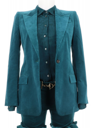 Gucci 2000's Iconic Single Breasted Velvet Suit