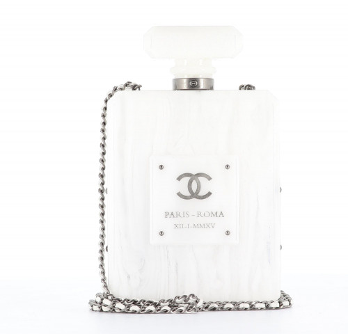 Chanel 2016 Parfum Marble Lucite Bottle clutch