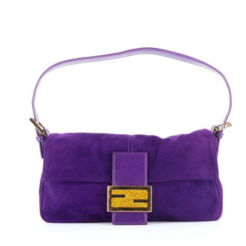 Fendi Purple Baguette Bag