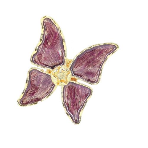 Yves Saint Laurent Purple Butterfly Brooch