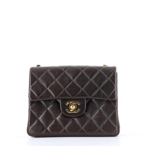Chanel mini timeless brown
