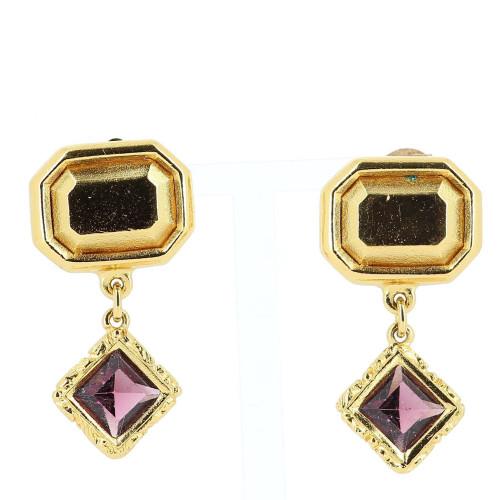Yves Saint Laurent Golden Earrings