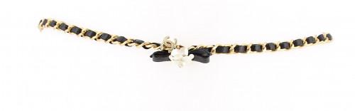 Chanel White Flower Belt