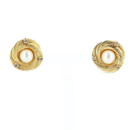 Chanel earring Fake pearl 1990's