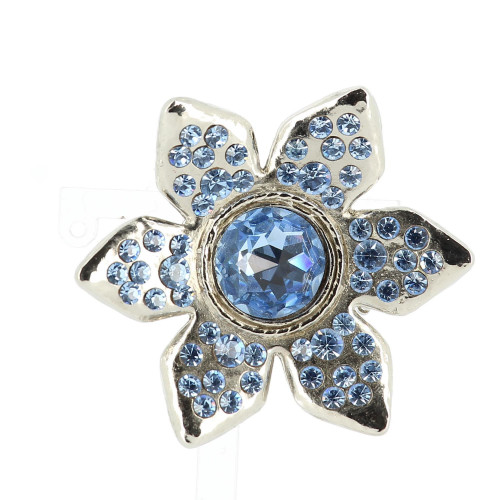 Yves Saint Laurent Blue Flower Brooch