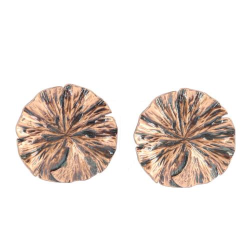 Yves Saint Laurent Red Leaf Earrings