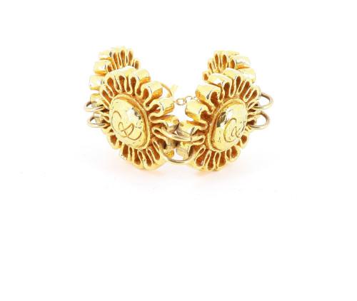 Christian Lacroix Four Golden Flower Bracelet