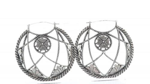 Yves Saint Laurent XL Metal Sphere Earrings
