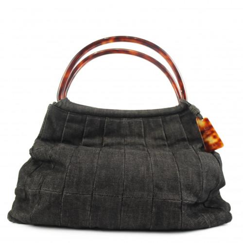 Chanel denim top handle bag